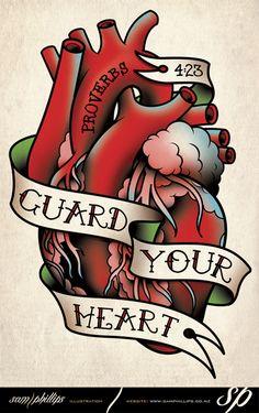 Guard Your Heart Tattoo by Sam-Phillips-NZ.deviantart.com on @deviantART