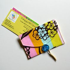 Card Case  Business Card Holder Fabric Card Case by TwiggyandOpal, $7.25