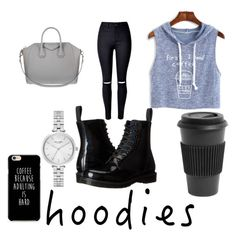 """""""Hoodies"""" by joneslil ❤ liked on Polyvore featuring WithChic, Homage, Dr. Martens, Givenchy and Kate Spade"""