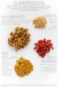Superfoods Top 4 by Rosalie Ruardy #superfoods #rosaliesrecipes
