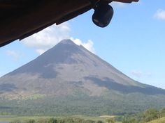 Mr. Beams goes to Puerto Rico!  Here's a beautiful image of the MB360 installed on a hut with the Arenal Volcano in the background.