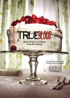True Blood: Eats, Drinks, and Bites from Bon Temps by Gianna Sobol, http://www.amazon.com/dp/1452110867/ref=cm_sw_r_pi_dp_GoVCqb1H0CK9Y - Some great Southern recipes in here. Lots of alchoholic beverages too. Overall a great book.