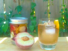 3 peaches, 1 1/2 cups vodka