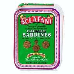 Skimless and Boneless Portuguese Sardines in Pure Olive Oil Eight Packs of 3.75 Oz Net Weight. #food #love #sardines