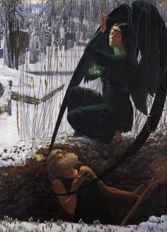The Death of The Grave Digger by Carlos Schwabe