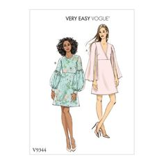 Buy Vogue Women's Dress Sewing Pattern, 9344 from our Sewing Patterns range at John Lewis & Partners. Vogue Patterns, Dress Sewing Patterns, Clothing Patterns, Patron Simplicity, Blog Couture, Sewing Blogs, Sewing Tips, Sewing Tutorials, Sewing Hacks