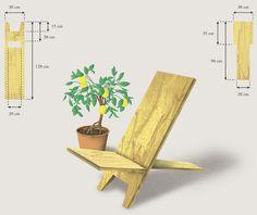 Mithilfe von zwei Holzbrettern und einer Stichsäge entsteht ein Platz an der Sonne.