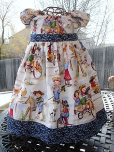 Cowgirl peasant dress for M