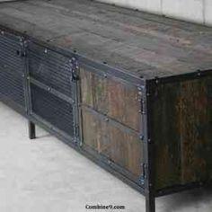 Media Console/Credenza. Vintage Industrial/Mid Century Design. Rustic