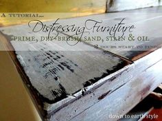 Tips for Distressing Painted Furniture