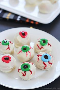 Halloween Eyeballs | These homemade truffles look like a trick, but ...