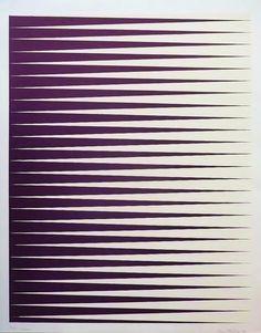 "Ann Edholm [Sweden] (b 1953) ~ ""Confession"", 2009. Litography (69 x 54 cm). | #art #painting #hardedge #minimalart"