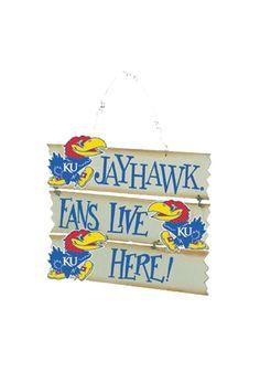 Kansas Jayhawks Hanging Sign
