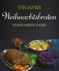 Rezept für einen herzhaften Nussbraten mit original Thüringer Klößen und Rotkraut. (Ganz ohne Gans) #vegan #weihnachten #weihnachtsbraten #festtagsbraten #rotkohl #rezept #veggielove #veggie #christmas #veganchristmasmeal