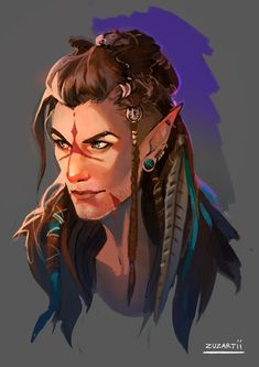 Tagged with fantasy, elf, dungeonsanddragons, notthesantakindofelf; A Quarrel of Elves Male Character, Fantasy Character Design, Character Portraits, Character Drawing, Character Design Inspiration, Character Concept, Concept Art, Character Ideas, Elf Characters