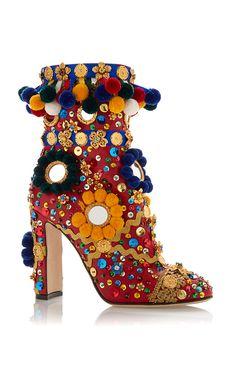 Multicolored Pom Pom Boot by DOLCE & GABBANA for Preorder on Moda Operandi