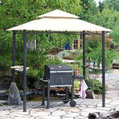 Ab sofort grillen wir auch bei Regen :-) Grillpavillon mit Doppeldach