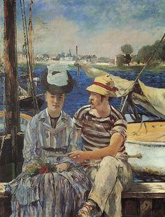 """A história da obra: Édouard Manet – """"Argenteuil""""  – 1874 http://designmuitomais.blogspot.com.br/2015/02/a-historia-da-obra-edouard-manet.html"""