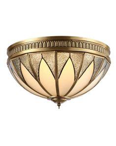 Gold Flush Mount Ceiling Light for Bedroom, Living Room