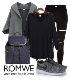 """""""ROMWE"""" by eernaa ❤ liked on Polyvore featuring River Island, NIKE and Vera Bradley"""