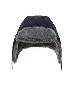 View details of Quilted Fur Trapper Hat