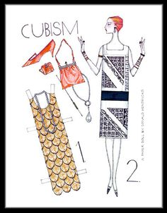paper doll dresses Cubism