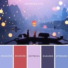 Happy Chinese New Year! Purple Color Schemes, Color Schemes Colour Palettes, Pastel Colour Palette, Blue Colour Palette, Color Azul, Pastel Colors, Colours, Palette Art, Color Combinations