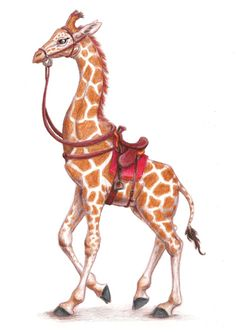 Young Riding Giraffe by ~crymsonwolfe on deviantART