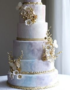 6 tier wedding cake.