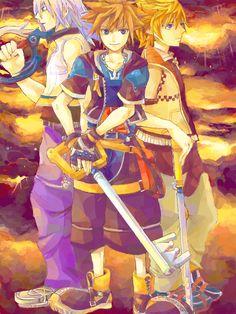 Riku, Sora, and Roxas