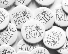 White Team Bride Badges / Hen Night / Hen Party / Hen Do / Bachelorette Buttons Hen Party Badges, Wedding Badges, Hens Night, Baby Shower Gender Reveal, Bridal Shower, Wedding Day, Bridesmaid, Button Badge, Pallet Projects