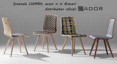 "Frumoasele si elegantele scaune ""Chiara"" sunt disponibile acum si in Brasov, prin ADOR Mobila! Si pentru ca ele sunt mai frumoase in realitate decat in poza, te invitam sa vii le vezi! Mai, Dining Chairs, Interior, Furniture, Home Decor, Decoration Home, Indoor, Room Decor, Dining Chair"