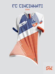 Tremendous - 48 Unique Nike MLS Concept Kits By Santi Kits - Footy Headlines Soccer Uniforms, Soccer Shirts, Sports Jersey Design, Mls Soccer, Football Kits, Sport T Shirt, Printed Shirts, Shirt Designs, Concept