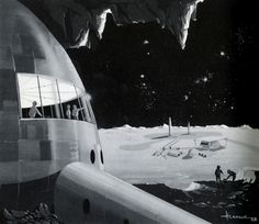 moonbase #retro #space #illustration #1963