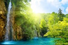 wallpapers background waterfall waterfalls sunny hd wallpaper
