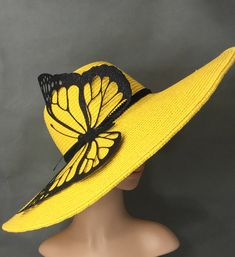 Millinery Hats, Fascinator Hats, Fascinators, Fancy Hats, Cool Hats, Tea Party Hats, Kentucky Derby Hats, Mellow Yellow, Color Yellow