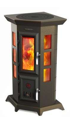 """Statika Kvinta"" Termofor is a heating and cooking stove-fireplace"