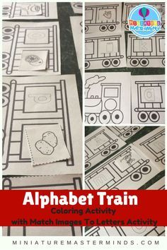 Printable Coloring Pages Preschool Alphabet Train Activity This is a printable alphabet train set with a letter to image matching activity included. This project was actually my mom's idea as…