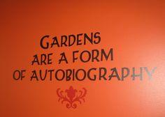 Wall in My Garden Nurseries bathroom in Mill Creek WA Garden Nursery, Plant Nursery, Garden Center Displays, Garden Centre, Sign Quotes, Wisdom Quotes, Heritage Rose, Garden Works, Victory Garden