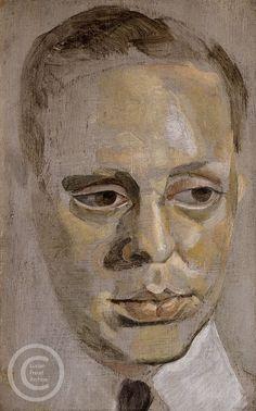 """Lucian Freud """"Portrait of Alexis de Rede"""" c1953 Oil on Panel 15cm x 9"""
