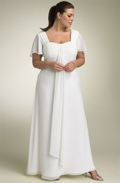 Simple, elegant, floor length and covers arm fat.