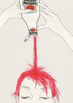 #illustration #red head