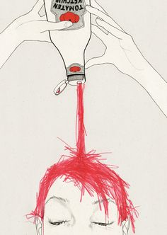 #illustration #red head