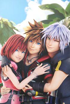 Kingdom Hearts 3 Anniversary by Baka-neearts on DeviantArt Cloud Kingdom Hearts, Xion Kingdom Hearts, Kingdom Hearts Wallpaper, Kingdom Hearts Games, Kingdom Hearts Characters, Heart Wallpaper, Cry Anime, Anime Art, Sora And Kairi