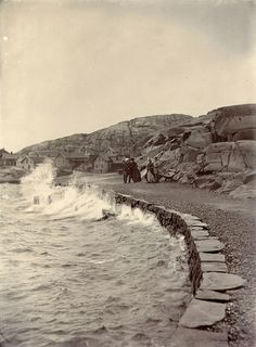 Storm, Lysekil, Sweden Storm in Lysekil. 1880s