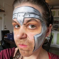 Maquillage pour enfant, Chevalier, Children make-up, Knight, Face painting for kids