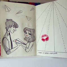 Paperman disney discovered by Angelica Souza on We Heart It Smash Book Inspiration, Journal Inspiration, Wreck This Journal, Art Journal Pages, Paperman Disney, Make A Paper Airplane, Create This Book, Disney Art, Book Art