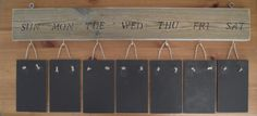 Beautiful Solid Wood Rustic Weekly Planner Memo by CreatonCrafts, £35.00