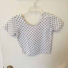 American Apparel Polka dot Crop Tee Polka dot crop top by American Apparel. One size. Fits S-M. Never worn American Apparel Tops Crop Tops
