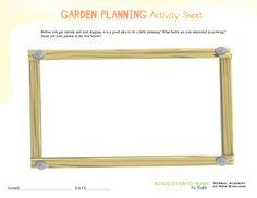 Garden Planning Sheet Printable - Kid's Herb Series